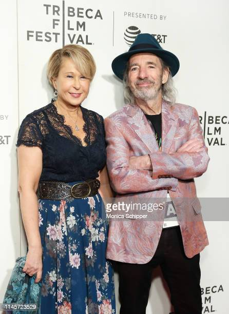 Actor panel moderator and voice of Lisa Simpson Yeardley Smith and actor and voice of multiple characters Harry Shearer attend Tribeca TV The...