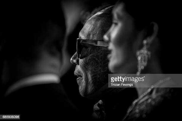Actor Panya Yimumpha and actress Pornchanok Mabklang attend the 'A Prayer Before Dawn' screening during the 70th annual Cannes Film Festival at on...