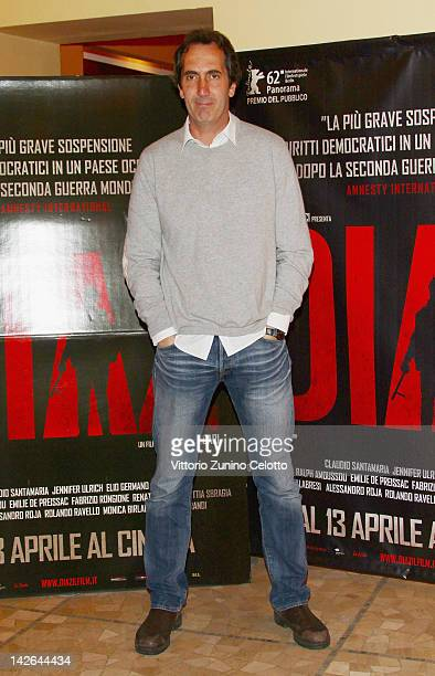 Actor Paolo Calabresi attends 'Diaz Don't Clean Up This Blood' premiere on April 10 2012 in Milan Italy