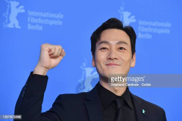 Actor Park Haesoo attends the Time to Hunt photo call during the 70th Berlinale International Film Festival Berlin at Grand Hyatt Hotel on February...