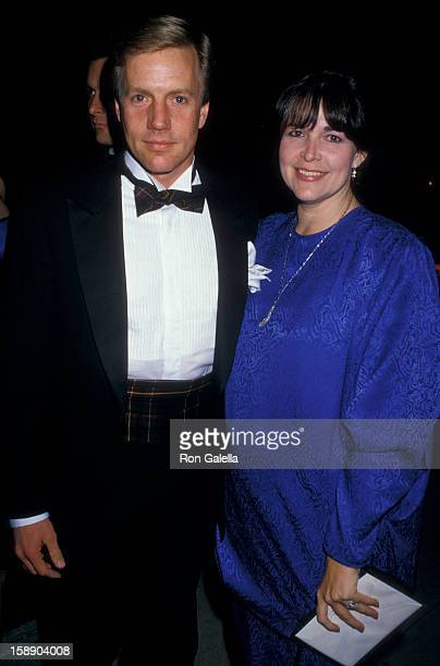 Actor Parker Jameson and wife Bonnie Jameson attend the performance of The American Ballet on March 3 1987 at the Shrine Auditorium in Los Angeles...