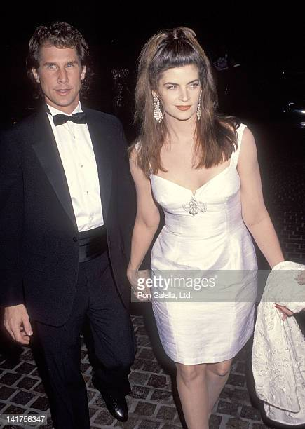 Actor Parker Stevenson and actress Kirstie Alley attend the 49th Annual Golden Globe Awards on January 18 1992 at the Beverly Hilton Hotel in Beverly...