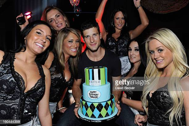 Actor Parker Young celebrates his birthday at the Chateau Nightclub & Gardens at the Paris Las Vegas on August 17, 2012 in Las Vegas, Nevada.