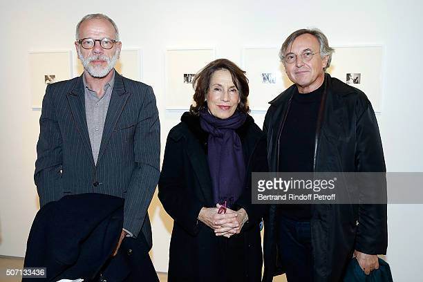 Actor Pascal Greggory Princess Marina of Grece and Pierre Passebon attend XYZ Exhibition Curated By Peter Marino at Thaddeus Ropac Gallery on January...