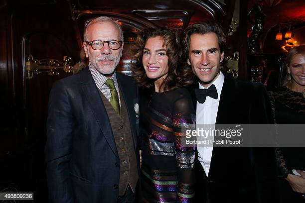 Actor Pascal Greggory Tracey Amon and Pierre Pellegry attend the Dinner in honor of the Artist Adrian Ghenie organized by Thaddaeus Ropac at Maxim's...