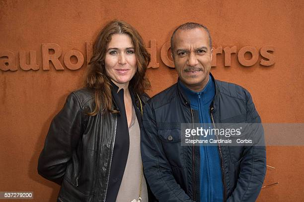 Actor Pascal Legitimus and his wife Adriana Santini attend day eleven of the 2016 French Open at Roland Garros on June 1 2016 in Paris France