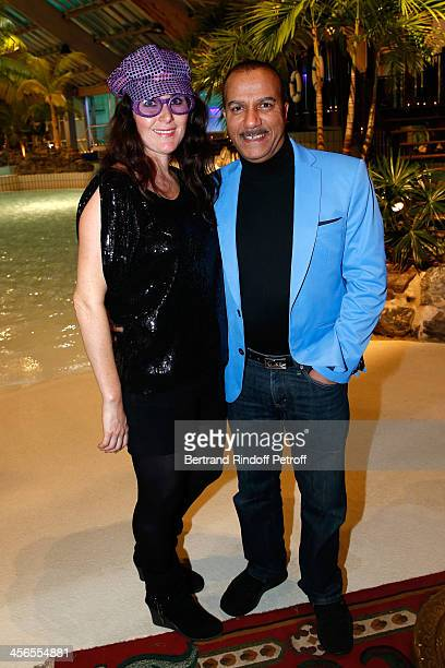 Actor Pascal Legitimus and his wife Adriana Santini attend the 1st wedding anniversary party of actress Cyrielle Clair and businessman Michel...