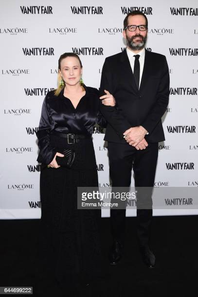 Actor Patricia Arquette and Eric White attend Vanity Fair and Lancome Toast to The Hollywood Issue at Chateau Marmont on February 23 2017 in Los...