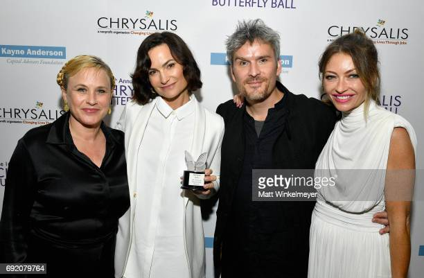 Actor Patricia Arquette Honoree Rosetta Getty Honoree Balthazar Getty and Chrysalis Butterfly Ball Cochair Rebecca GayheartDane at the 16th Annual...