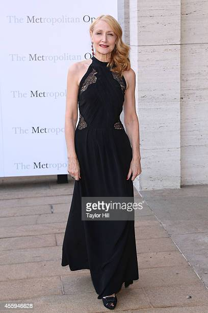 Actor Patricia Clarkson attends the season opening performace of The Marriage of Figaro at The Metropolitan Opera House on September 22 2014 in New...