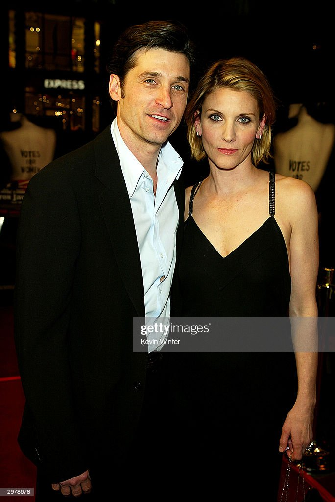 Actor Patrick Dempsey And His Wife Jillian Arrive At The Premiere Of