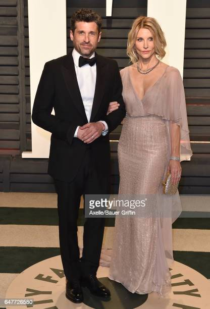 Actor Patrick Dempsey and Jillian Fink arrive at the 2017 Vanity Fair Oscar Party Hosted By Graydon Carter at Wallis Annenberg Center for the...