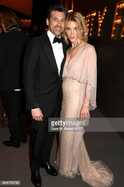 Actor Patrick Dempsey and Jillian Fink attend the 2017 Vanity Fair Oscar Party hosted by Graydon Carter at Wallis Annenberg Center for the Performing...