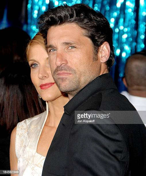 Actor Patrick Dempsey and wife Jillian Dempsey arrive at the Los Angeles Premiere 'Enchanted' at the El Capitan Theater on November 16 2007 in...