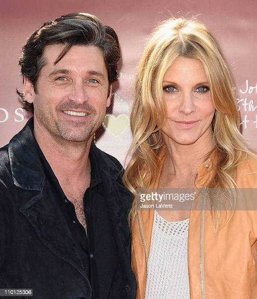 Actor Patrick Dempsey and wife Jillian Dempsey attend the 8th annual John Varvatos Stuart House benefit at John Varvatos Los Angeles on March 13 2011...