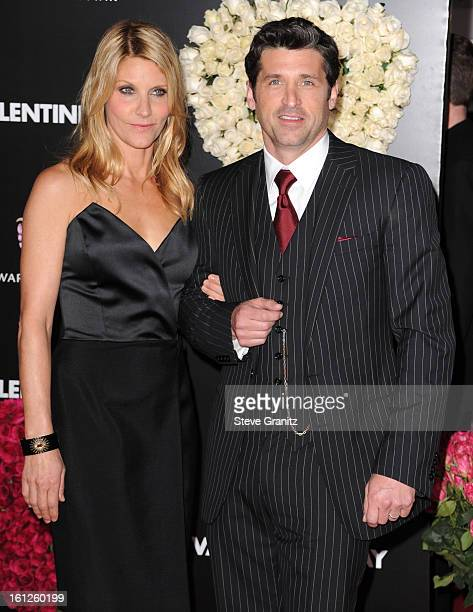 Actor Patrick Dempsey and wife Jillian Dempsey attends the 'Valentine's Day' Los Angeles Premiere at Grauman's Chinese Theatre on February 8 2010 in...