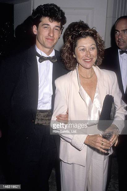 Actor Patrick Dempsey and wife Rocky Parker attend the 42nd Annual Writers Guild of America Awards on March 18, 1990 at the Beverly Hilton Hotel in...