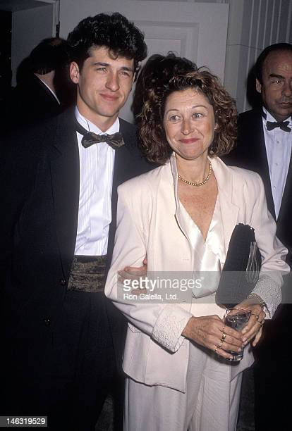 Actor Patrick Dempsey and wife Rocky Parker attend the 42nd Annual Writers Guild of America Awards on March 18 1990 at the Beverly Hilton Hotel in...