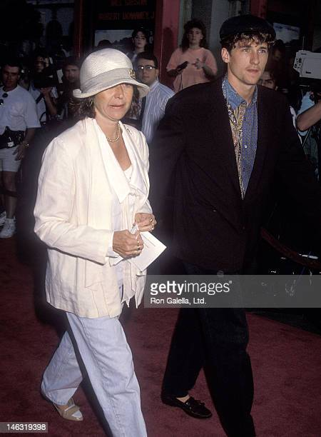 Actor Patrick Dempsey and wife Rocky Parker attend the Air America Hollywood Premiere on August 9 1990 at the Mann's Chinese Theatre in Hollywood...