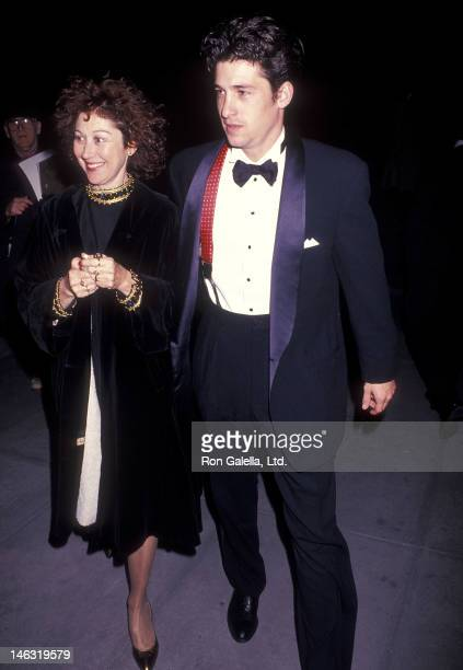 Actor Patrick Dempsey and wife Rocky Parker attend the Cape Fear New York City Premiere on November 6 1991 at the Ziegfeld Theatre in New York City