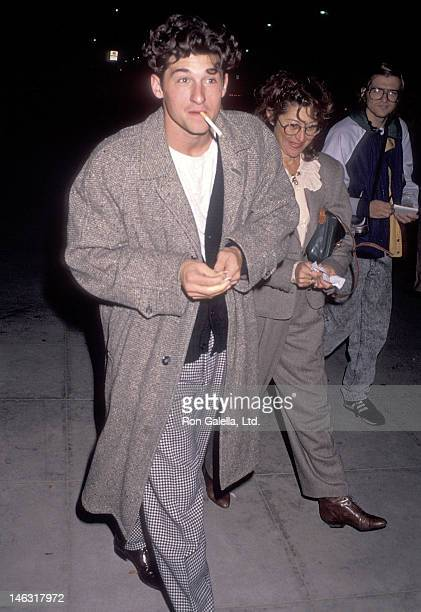 Actor Patrick Dempsey and wife Rocky Parker attend the Enemies a Love Story Beverly Hills Premiere on December 12 1989 at the Academy of Motion...