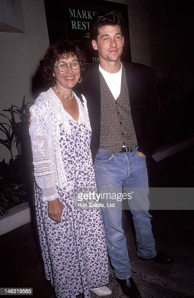Actor Patrick Dempsey and wife Rocky Parker attend The Indian Runner Century City Premiere on September 19 1991 at the AMC Century 14 Theatres in...