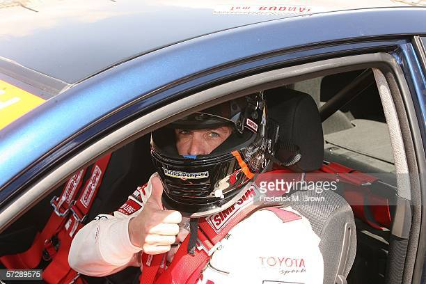 Actor Patrick Dempsey attends the Toyota Grand Prix of Long Beach Celebrity Race on April 8 2006 in Long Beach California