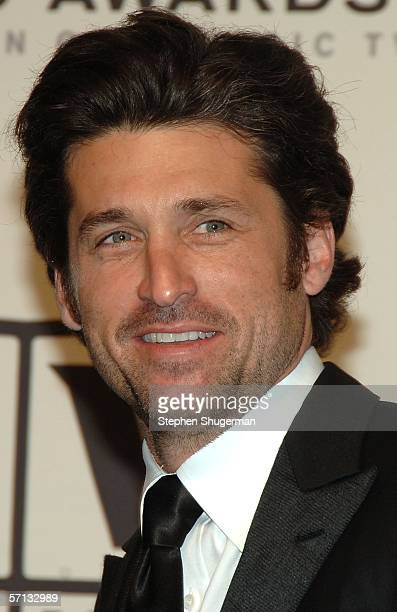 Actor Patrick Dempsey of 'Grey's Anatomy' winner of the Future Classic Award poses in the press room at the 2006 TV Land Awards at the Barker Hangar...