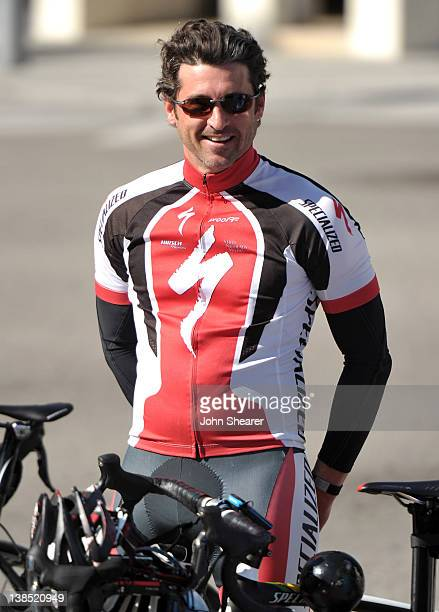 Actor Patrick Dempsey on hand to announce that Stage 8 of the 2012 AMGEN Tour of California professional cycling race will begin on Rodeo Drive and...