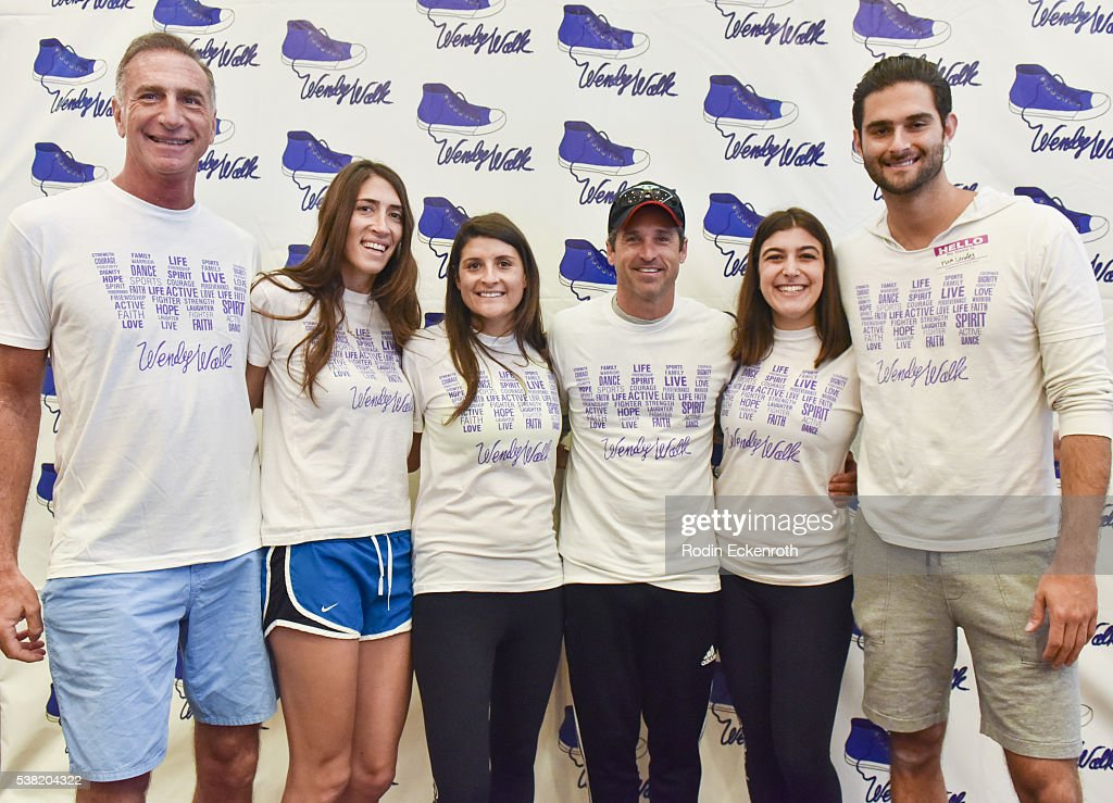Actor Patrick Dempsey Poses For Portrait With The Landes Family At
