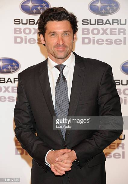 Actor Patrick Dempsey presents the first Subaru turbodiesel motor at Shoko club on Febraury 29, 2008 in Madrid, Spain.