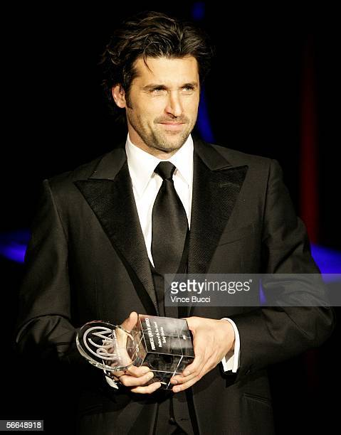 Actor Patrick Dempsey presents The Producers Guild of America Producer of the Year Award in Variety Television onstage during the 2006 Producers...