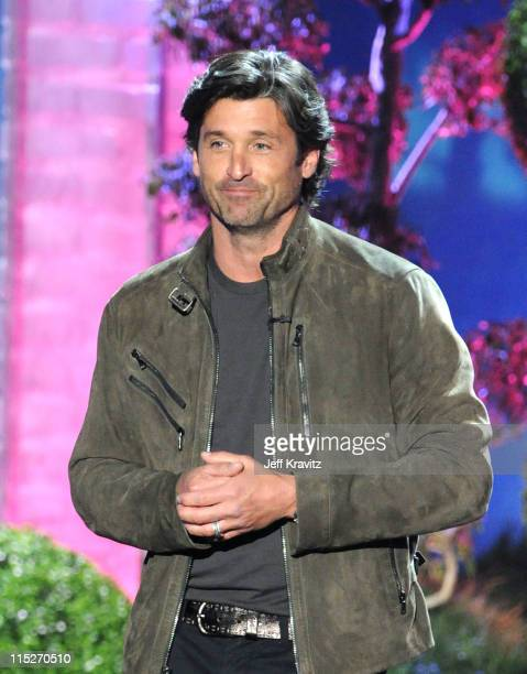 Actor Patrick Dempsey speaks onstage during the 2011 MTV Movie Awards at Universal Studios' Gibson Amphitheatre on June 5 2011 in Universal City...