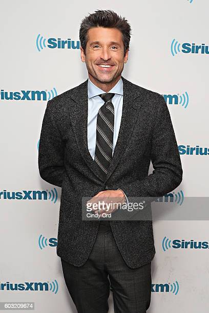 Actor Patrick Dempsey visits the SiriusXM Studios on September 12, 2016 in New York City.