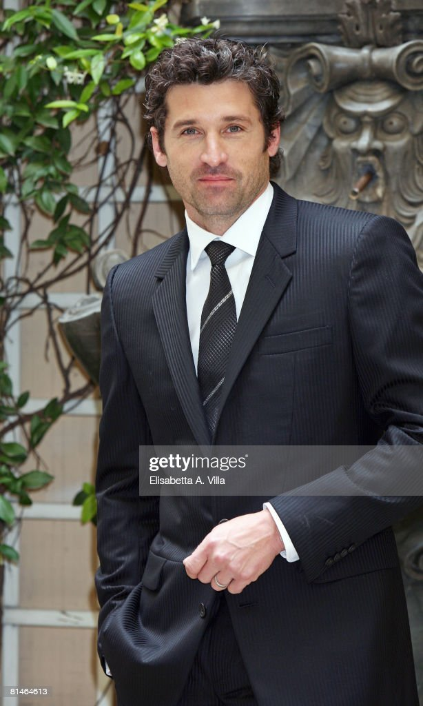 Actor Patrick Dempsey Wearing Versace Attends A Photocall