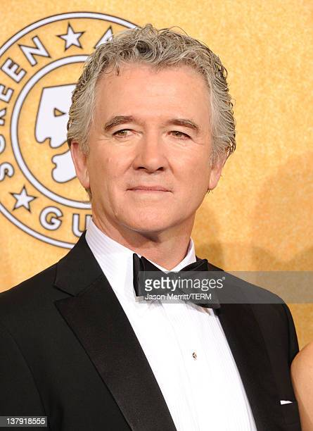 Actor Patrick Duff poses in the press room during the 18th Annual Screen Actors Guild Awards at The Shrine Auditorium on January 29 2012 in Los...