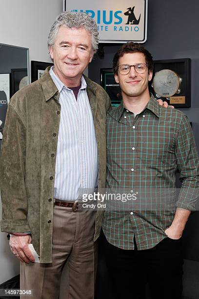 Actor Patrick Duffy and Andy Samberg visit the SiriusXM Studio on June 8 2012 in New York City