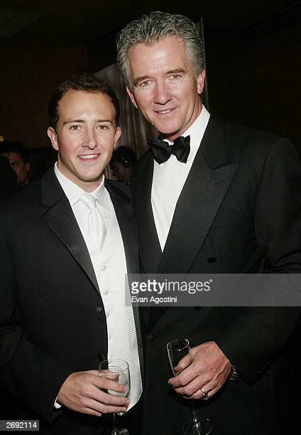 Actor Patrick Duffy and son Conor attend the cocktail party for the CBS at 75 television gala at the Hammerstein Ballroom November 2 2003 in New York...