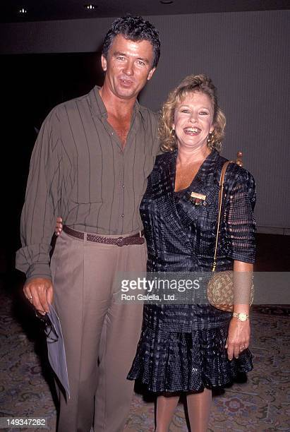 Actor Patrick Duffy and wife Carlyn attend the ABC Summer TCA Press Tour on July 21 1991 at the Universal Hilton Hotel in Universal City California