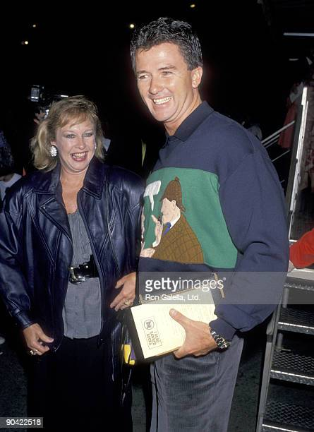 Actor Patrick Duffy and wife Carlyn Rosser attend a Performance of Cirque du Soleil on September 20 1989 at Santa Monica Pier in Santa Monica...