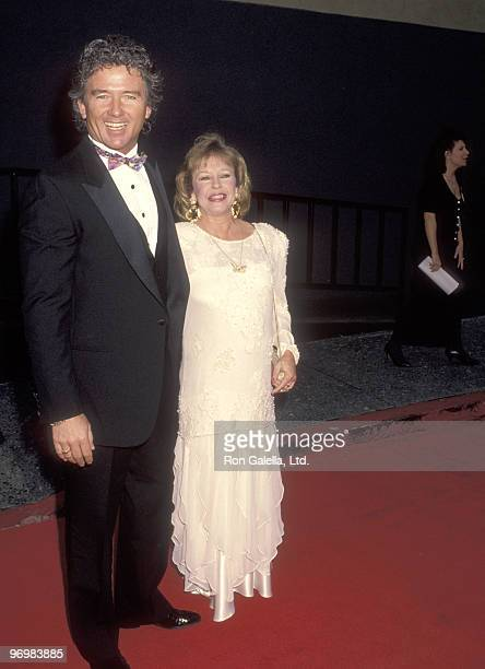 Actor Patrick Duffy and wife Carlyn Rosser attend the 18th Annual People's Choice Awards on March 17 1992 at Universal Studios in Universal City...