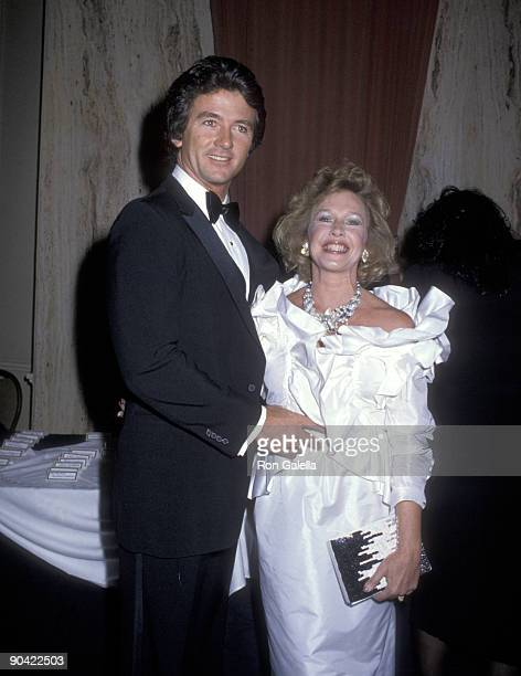 Actor Patrick Duffy and wife Carlyn Rosser attend the 37th Annual Directors Guild of America Awards on March 9 1985 at Beverly Hilton Hotel in...