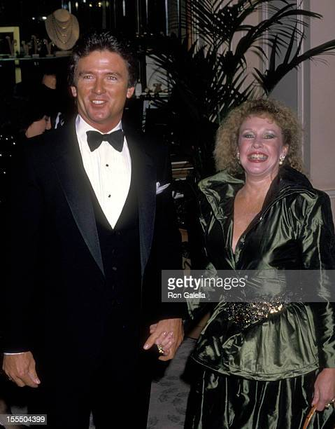 Actor Patrick Duffy and wife Carlyn Rosser attend the 45th Annual Golden Globe Awards on January 23 1988 at Beverly Hilton Hotel in Beverly Hills...