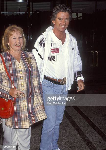 Actor Patrick Duffy and wife Carlyn Rosser attend the ABC Television's 40th Anniversary Celebration on July 26 1993 at Universal Hilton Hotel in...