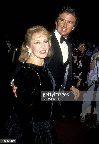 Actor Patrick Duffy and wife Carlyn Rosser attend the American Jewish Committee Gala Honoring Merv Adelson on October 25 1987 at Beverly Wilshire...