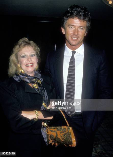 Actor Patrick Duffy and wife Carlyn Rosser attend the CBS Affiliates Party on June 14 1988 at Century PLaza Hotel in Los Angeles California