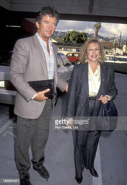 Actor Patrick Duffy and wife Carlyn Rosser attend the Crown Royal Charity Horse Show and Coctkail Party on March 5 1991 at Ma Maison Restaurant in...