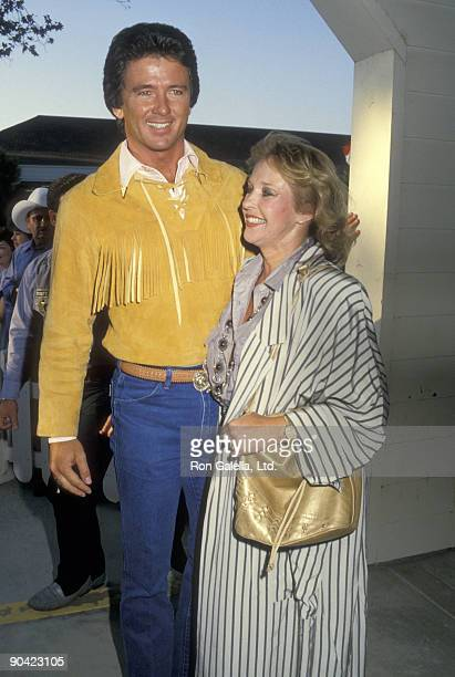 Actor Patrick Duffy and wife Carlyn Rosser attend the Fifth Annual Golden Boot Awards on August 15 1987 at Los Angeles Equestrian Center in Burbank...