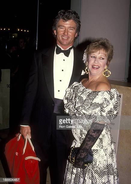 Actor Patrick Duffy and wife Carlyn Rosser attend the Second Annual Fire and Ice Ball on December 4 1991 at Beverly Hilton Hotel in Beverly Hills...