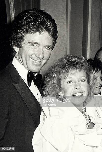 Actor Patrick Duffy and wife Carlyn Rosser attending the party for Fairy Tale Theater on March 9 1985 at Spago Restaurant in West Hollywood California